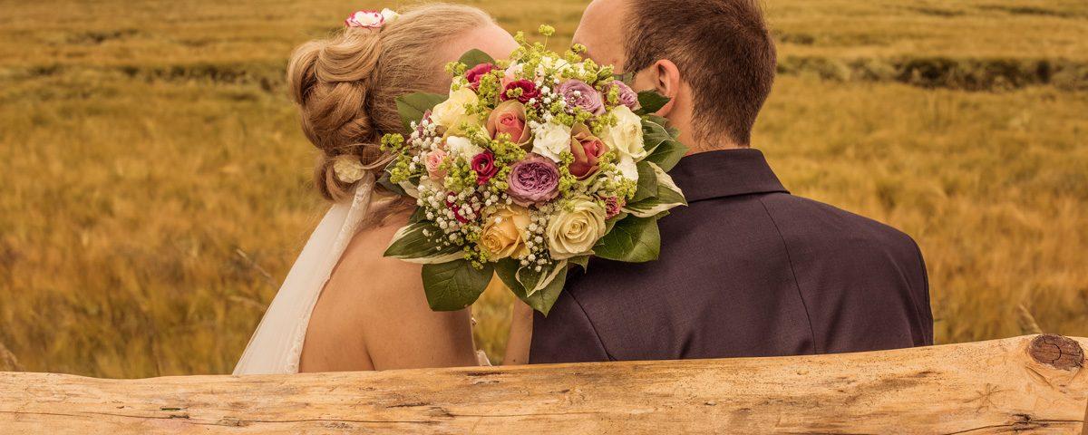 Panoramablick Brautpaar