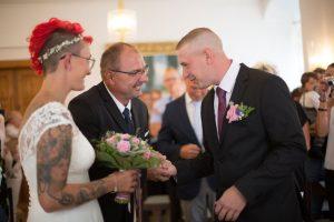 Gratulation-Brautpaar